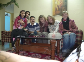 with Vinay's family